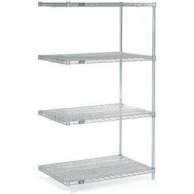 "Nexel Poly-Z-Brite Wire Shelving Add-On 30""W X 24""D X 63""H"