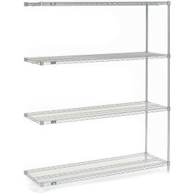 "Nexel® Poly-Z-Brite® Wire Shelving Add-On 60""W x 18""D x 74""H"