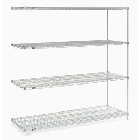 "Nexel Poly-Z-Brite Wire Shelving Add-On 60""W x 21""D x 74""H"