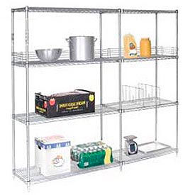 "Nexel Poly-Z-Brite Wire Shelving Add-On 42""W x 21""D x 86""H"