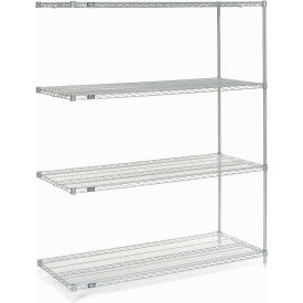 "Nexel® Poly-Z-Brite® Wire Shelving Add-On 60""W x 24""D x 86""H"
