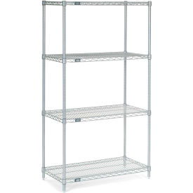 "Nexel Stainless Steel Wire Shelving 36""W X 18""D X 63""H"