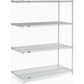 """Nexel Stainless Steel Wire Shelving Add-On 48""""W X 24""""D X 63""""H"""
