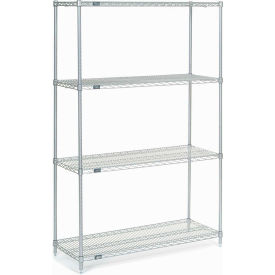 """Nexel Stainless Steel Wire Shelving 48""""W X 18""""D X 74""""H"""