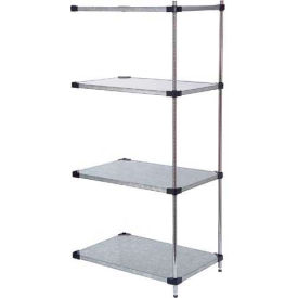 36x18x74 Galvanized Steel Solid Shelving Add-On