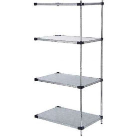 60x24x74 Galvanized Steel Solid Shelving Add-On