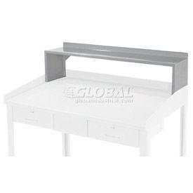 """Riser Shelf for 48""""W Shop Desk - Blue - Gray"""