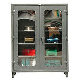 Strong Hold® Heavy Duty Clearview Storage Cabinet 46-LD-244 - 48x24x78