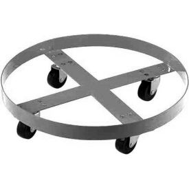 Stainless Steel Drum Dolly for 55 Gallon Drum - 800 Lb. Capacity