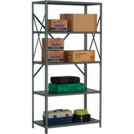 "Steel Shelving 20 Ga 48""Wx18""Dx73""H Open Clip Style 5 Shelf"
