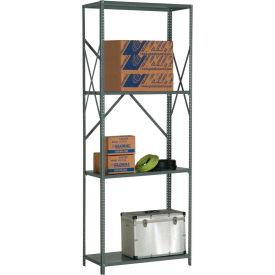 "Steel Shelving 20 Ga 48""Wx12""Dx97""H Open Clip Style 4 Shelf"