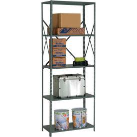 "Steel Shelving 20 Ga 36""Wx30""Dx97""H Open Clip Style 5 Shelf"