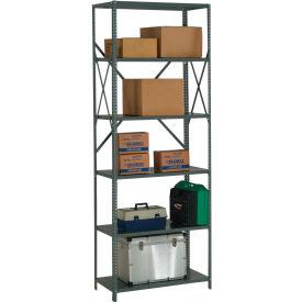 "Steel Shelving 20 Ga 48""Wx30""Dx97""H Open Clip Style 6 Shelf"