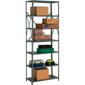 "Steel Shelving 20 Ga 36""Wx30""Dx97""H Open Clip Style 7 Shelf"