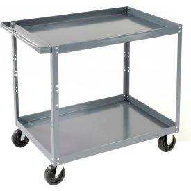 Edsal SC1800 2 Shelf Steel Stock Cart 30 x 18