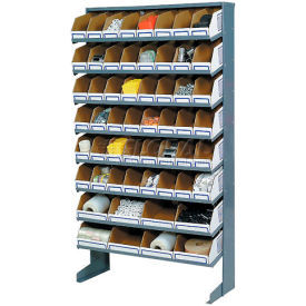Floor Bin Rack with 56 Corrugated Bins