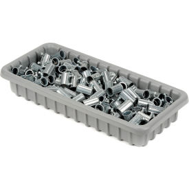 "Dandux Dividable Nesting Plastic Box 50P1811030 -  17-3/4""L x 10-7/8""W x 4""H, Gray - Pkg Qty 5"