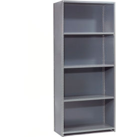 "Steel Shelving 20 Ga 48""Wx24""Dx73""H Closed Clip Style 5 Shelf Starter"