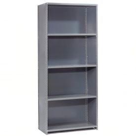 "Steel Shelving 20 Ga 48""Wx12""Dx85""H Closed Clip Style 5 Shelf Starter"