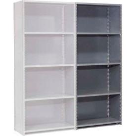 "Steel Shelving 20 Ga 48""Wx18""Dx85""H Closed Clip Style 5 Shelf Add-On"