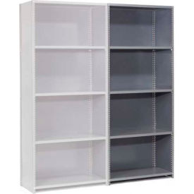 "Steel Shelving 20 Ga 48""Wx30""Dx85""H Closed Clip Style 5 Shelf Add-On"