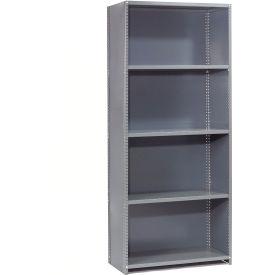 "Steel Shelving 20 Ga 48""Wx30""Dx85""H Closed Clip Style 5 Shelf Starter"