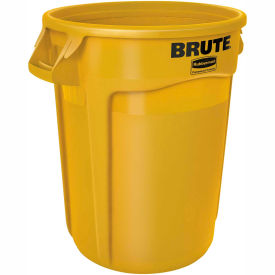 Rubbermaid Brute® 2620 Trash Container 20 Gallon - Yellow- Pkg Qty 1