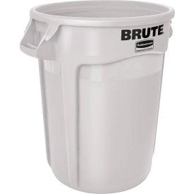 Rubbermaid Brute® 2632 Trash Container w/Venting Channels 32 Gallon - White- Pkg Qty 1