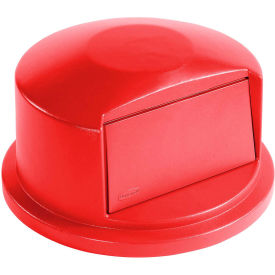 Dome Lid For 32 Gallon Round Trash Container, Red - RCP263788RED