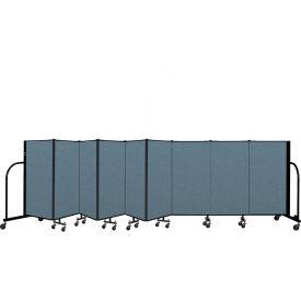 "Screenflex Portable Room Divider 9 Panel, 4'H x 16'9""L, Fabric Color: Blue"