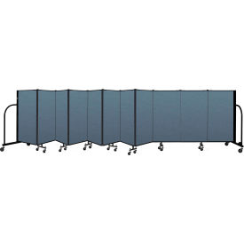 "Screenflex Portable Room Divider 11 Panel, 4'H x 20'5""L, Fabric Color: Blue"