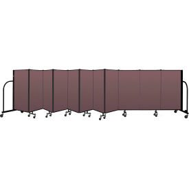 "Screenflex Portable Room Divider 11 Panel, 4'H x 20'5""L, Fabric Color: Mauve"