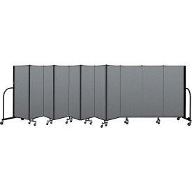 "Screenflex Portable Room Divider 11 Panel, 5'H x 20'5""L, Fabric Color: Gray"