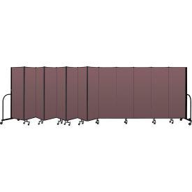 """Screenflex Portable Room Divider 13 Panel, 6'H x 24'1""""L, Fabric Color: Mauve"""