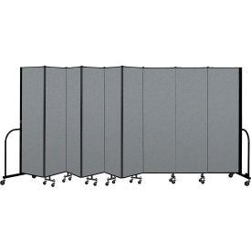 "Screenflex Portable Room Divider 9 Panel, 6'8""H x 16'9""L, Fabric Color: Gray"