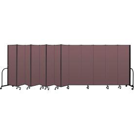 """Screenflex Portable Room Divider 13 Panel, 6'8""""H x 24'1""""L, Fabric Color: Mauve"""