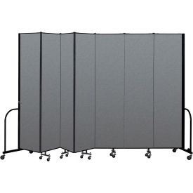 "Screenflex Portable Room Divider 7 Panel, 8'H x 13'1""L, Fabric Color: Gray"