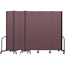 """Screenflex Portable Room Divider 7 Panel, 8'H x 13'1""""L, Fabric Color: Mauve"""