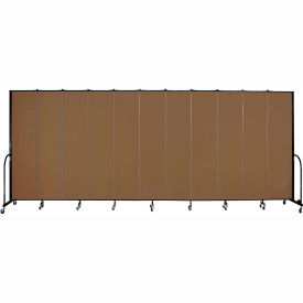 "Screenflex Portable Room Divider 11 Panel, 8'H x 20'5""L, Fabric Color: Oatmeal"