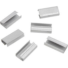 "Pac Strapping Metal Strapping Seals For 1/2"" Poly Strapping, 1000 Pack"