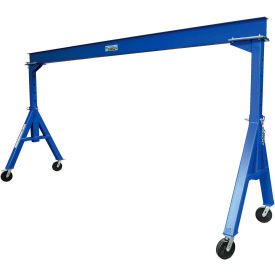 Vestil Steel Gantry Crane AHS-6-15-12 Adjustable Height 6000 Lb. Capacity