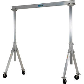 Vestil Aluminum Gantry Crane AHA-2-8-10 Adjustable Height 2,000 Lb. Capacity