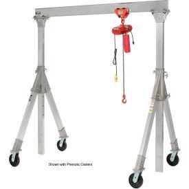 Vestil Aluminum Gantry Crane AHA-15-10-12-PNU Adj. Ht. Pneumatic Casters 1500 Lb