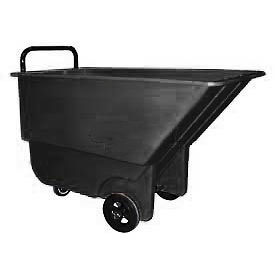 Bayhead Products Black Light Duty 1/3 Cubic Yard Tilt Truck 275 Lb. Capacity- Pkg Qty 1