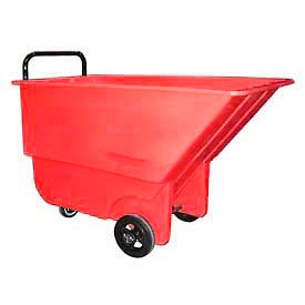 Bayhead Products Red Light Duty 1/3 Cubic Yard Tilt Truck 275 Lb. Capacity