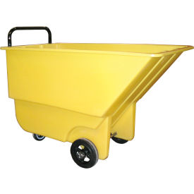 Bayhead Products Yellow Light Duty 1/3 Cubic Yard Tilt Truck 275 Lb. Capacity- Pkg Qty 1