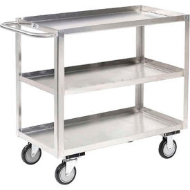 Jamco Stainless Steel Stock Cart XA130 3 Shelves Tray Top Shelf 30x18