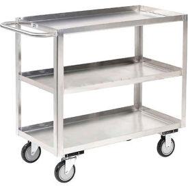 Jamco Stainless Steel Stock Cart XA248 3 Shelves Tray Top Shelf 48x24