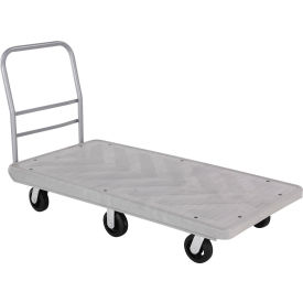 Structural Foam 60 x 30 Plastic Deck Platform Truck with 6 Wheels 2500 Lb. Capacity