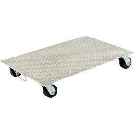 """Vestil Aluminum Dolly PDA-1627-R-S-H 27""""L x 16""""W with Solid Deck & Rubber Wheels"""